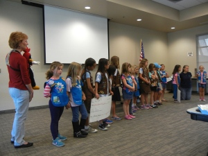 "Girl Scouts demonstrate ""I can make change happen!"""